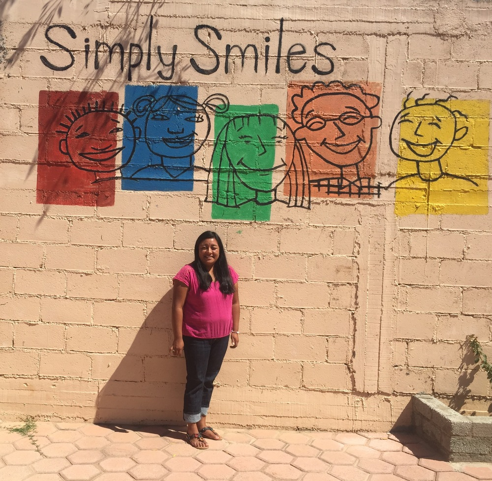Gaby, pictured above, at our Center of Operations in Oaxaca, Mexico, which is where our children's home is located and also where we host volunteers for a portion of their week with us!