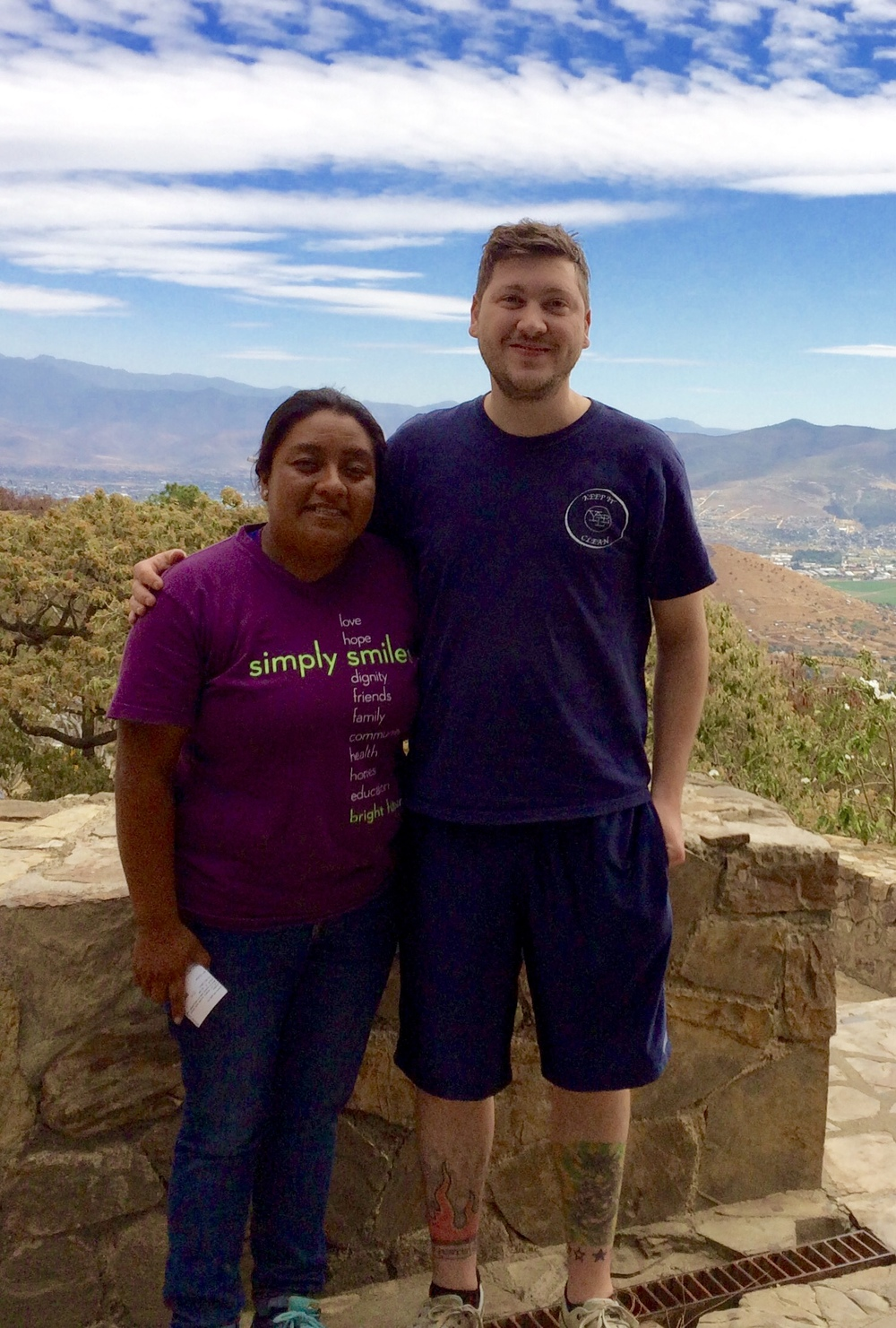 Dr. Pierce, with Gaby, a former philosophy student at SHU and current Simply Smiles program manager of Mexican operations. (January 2016)