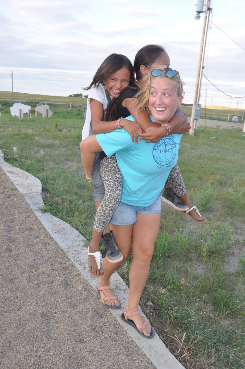 Jessi, always a leader of piggy back rides and a friendly face at camp!