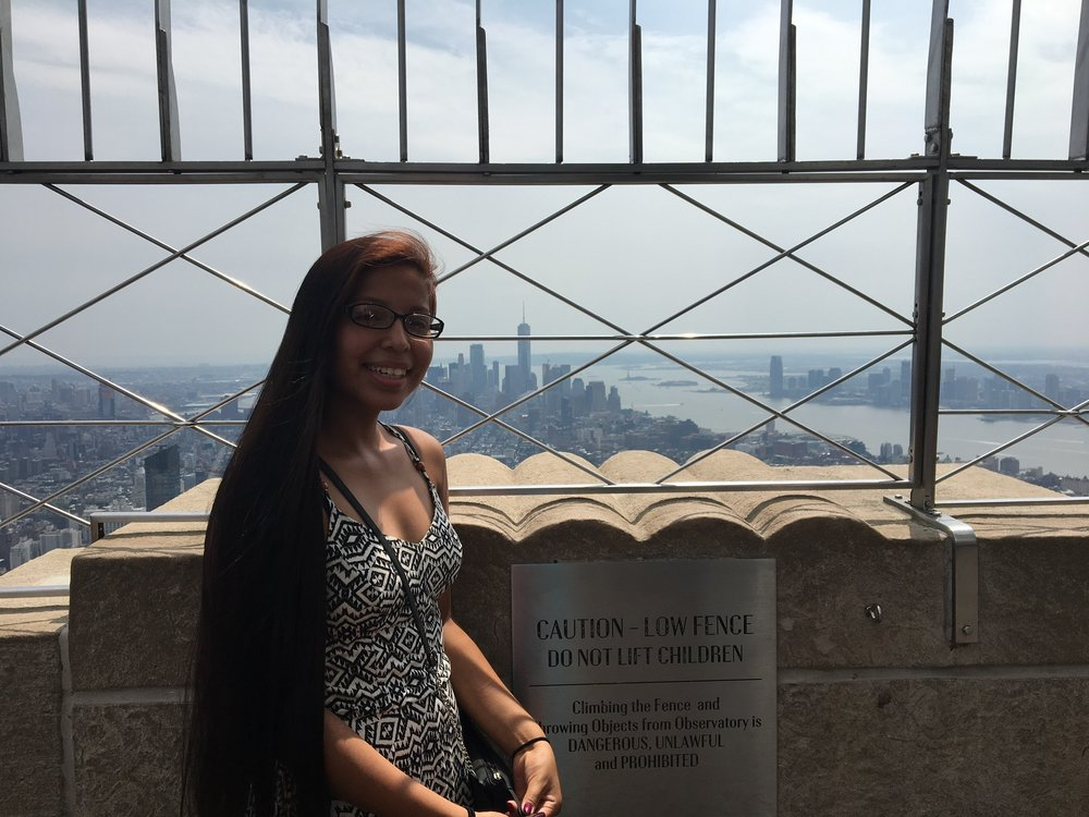 Autumn, atop the Empire State Building!