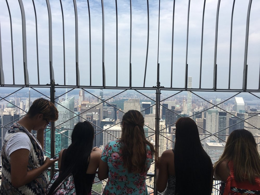 Seeing the city from the Empire State Building!