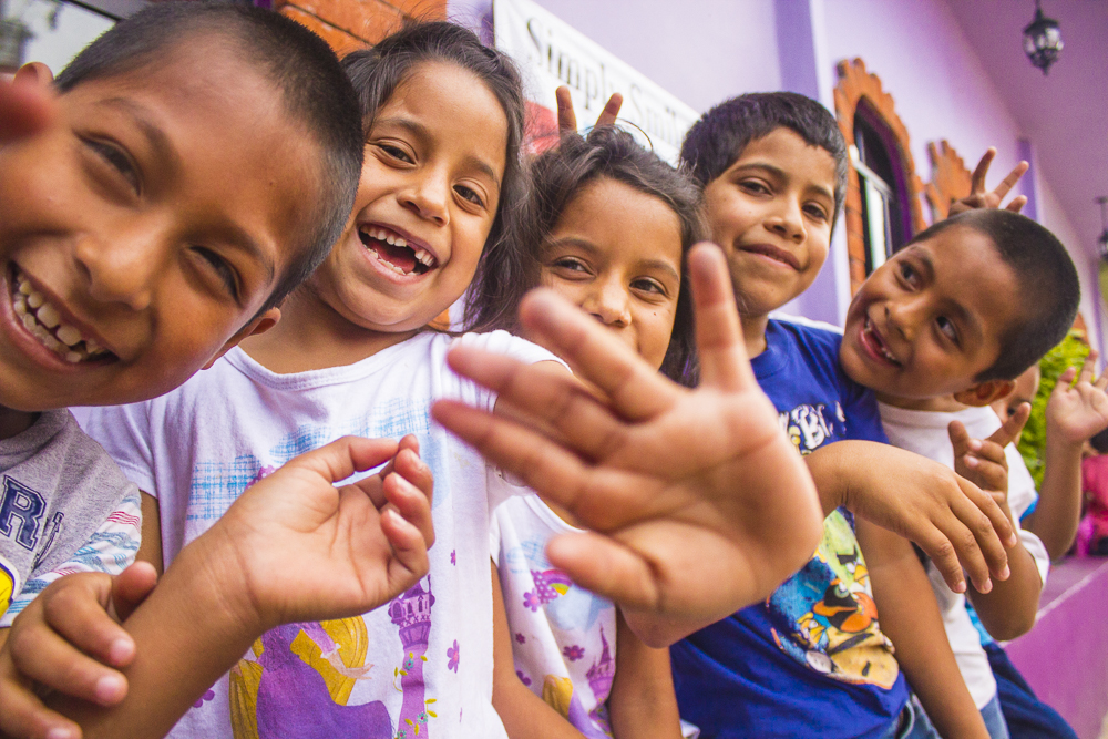 Smiling faces at the Simply Smiles Home for Children! (Photo by Geer Teng)