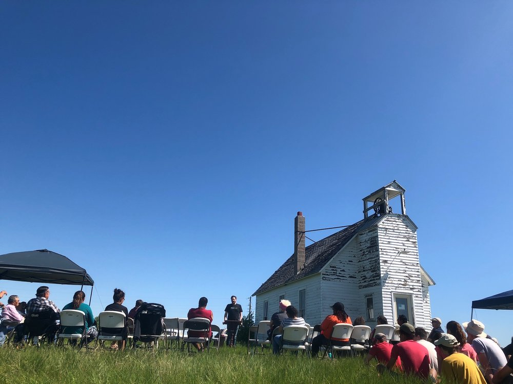 On June 3, 2018, the Dakota Association of the United Church of Christ held a church service and blessing at the Virgin Creek (La Plant) Congregational Church.