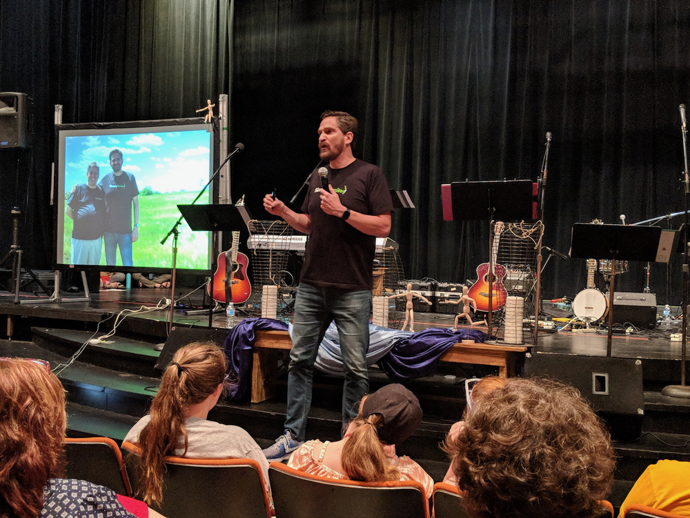 Simply Smiles President and Founder Bryan Nurnberger served as the plenary speaker at many Regional Youth Events in 2018. Here, he presents the keynote at the West Central Regional Youth Event.