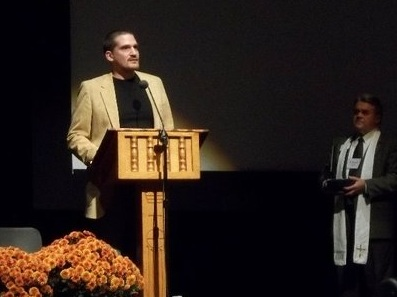 """Bryan Nurnberger received the  Living Waters Award  from the Connecticut Conference of the UCC in 2010. This award is given to individuals """"who work for justice, live ethically, build community, and promote the common good in their workplaces and in their communities."""""""
