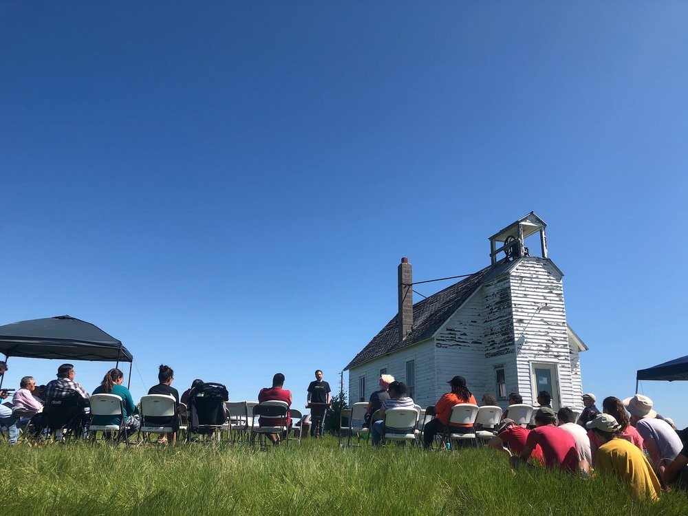 On June 3, 2018, the Dakota Association of the United Church of Christ held a church service & blessing at the Virgin Creek (La Plant) Congregational Church to celebrate the land lease.