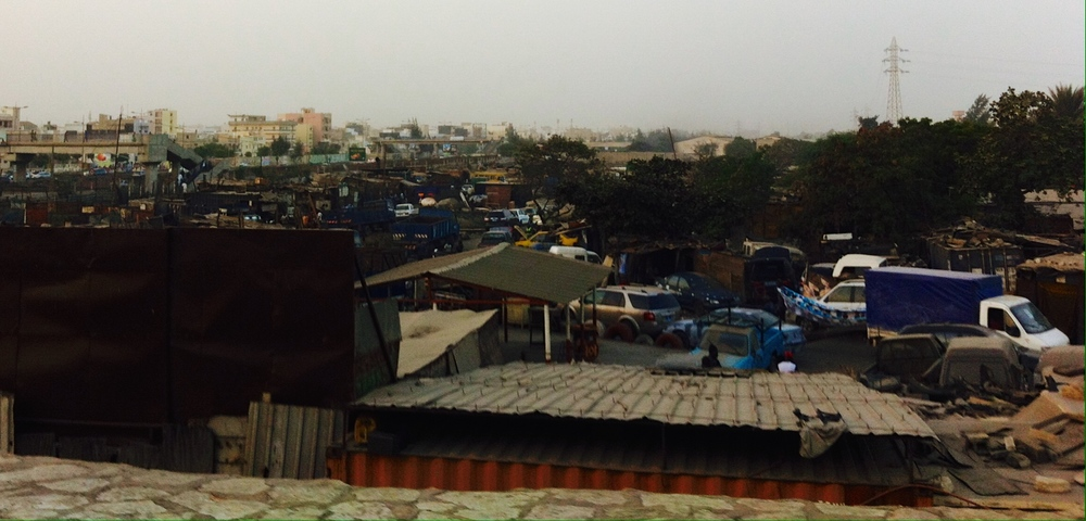 Colobane scrap metal market of Dakar