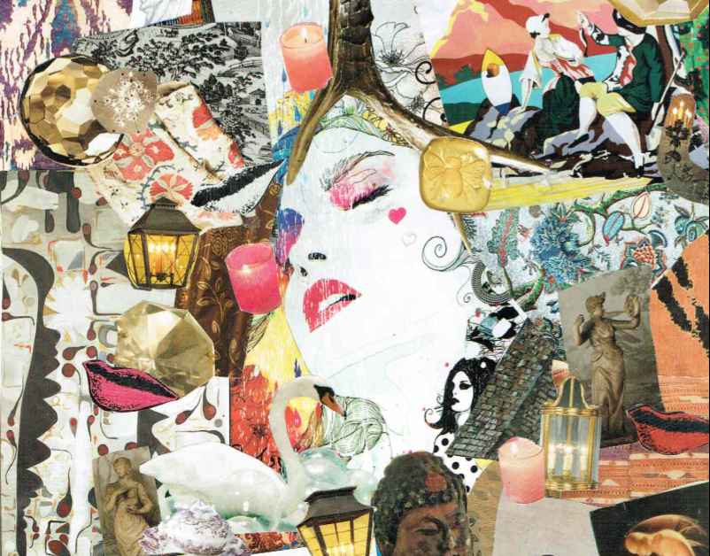 """Thoughts"" collage by Charlotte Force"