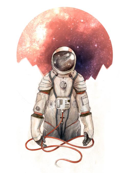 Astronaut by Caitlin Russell ( http://caitlinrussellart.com/ )