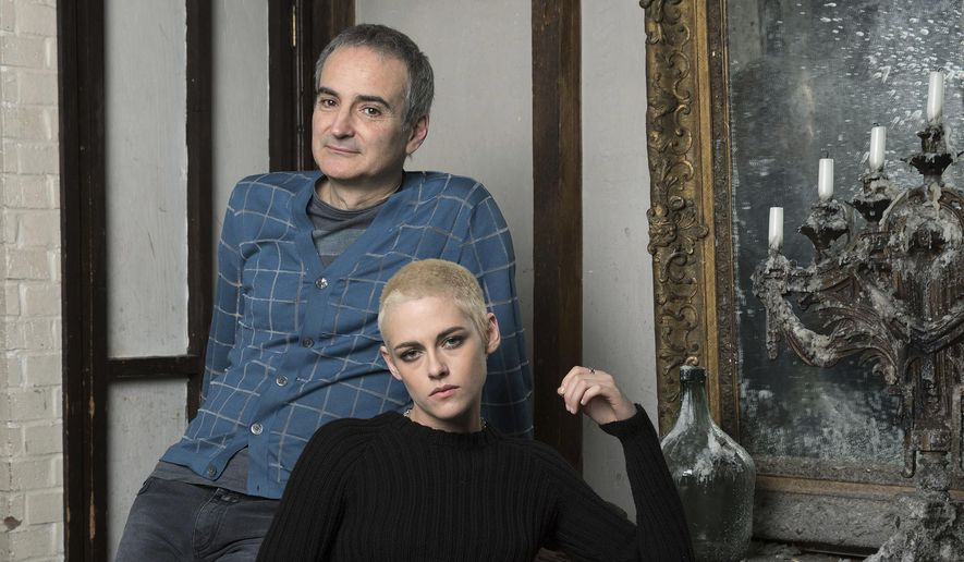 The director Olivier Assayas and Kirsten Stewart