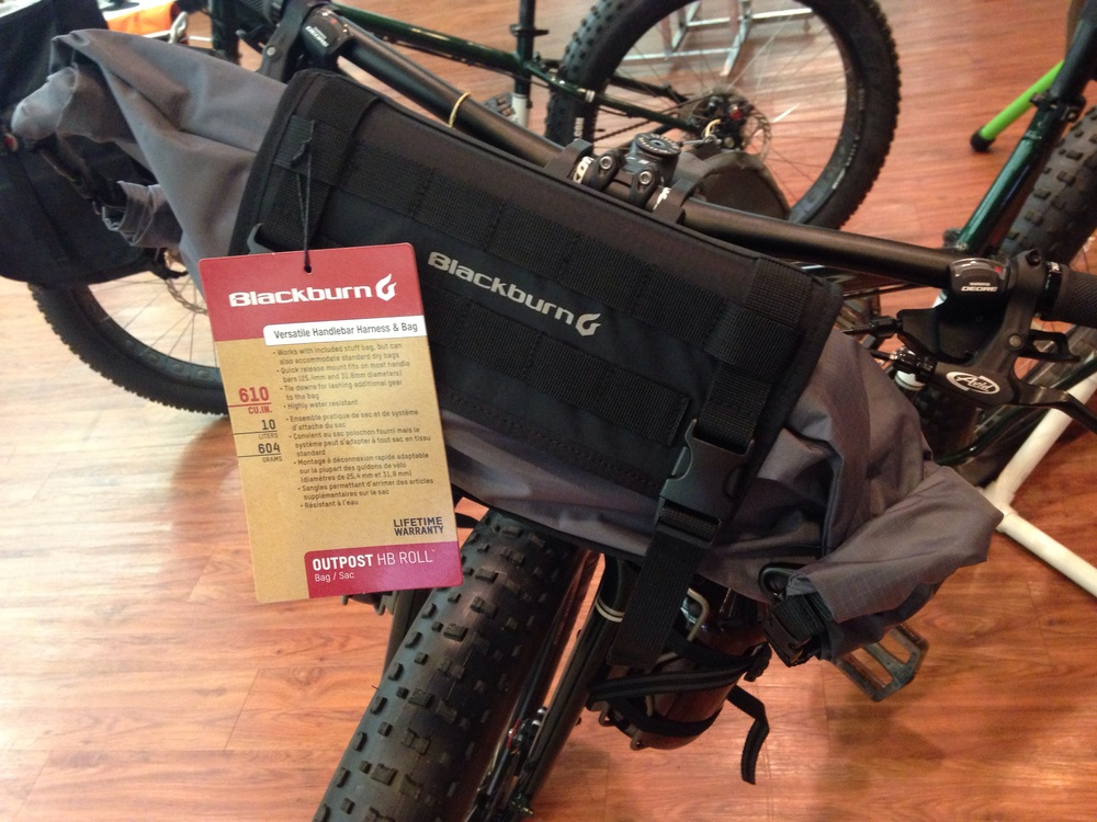 Blackburn Outpost Handlebar Roll. Perfect to carry clothing or camping gear in the included waterproof dry bag.