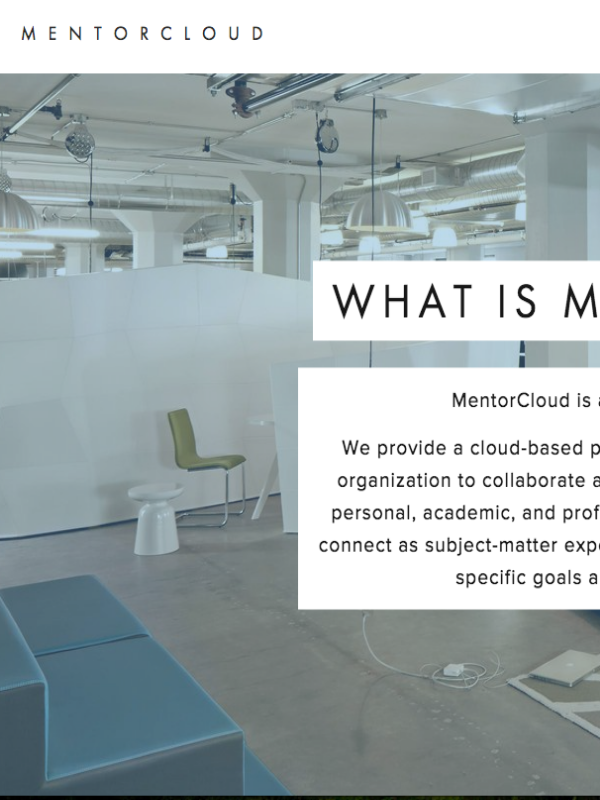 Mentor Cloud - Project: User On-boarding Platform: WebIndustry: Enterprise Software, Social Media