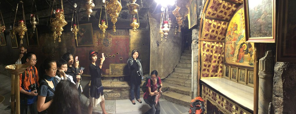 at the birthplace of Jesus in Bethlehem, Palestine, October 2015