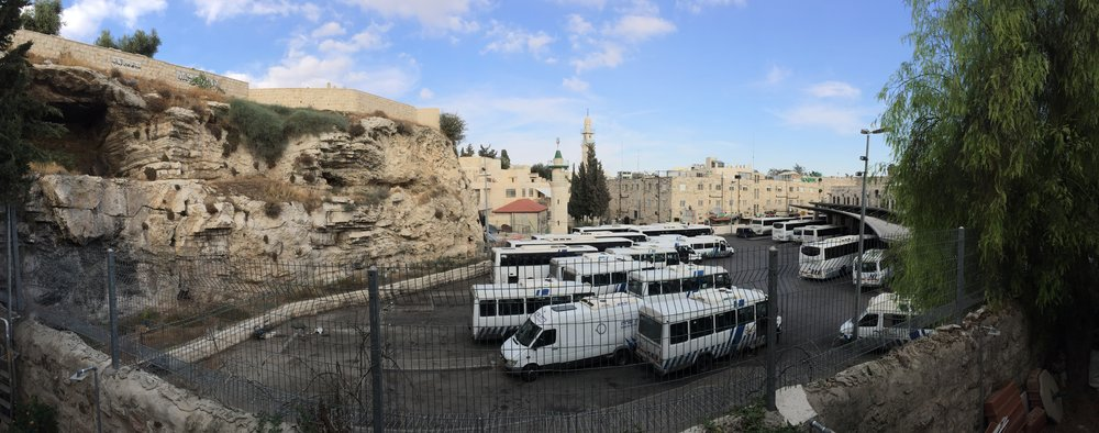 """East Jerusalem Central Bus Station, Sultan Suleiman Street, Jerusalem """"They came to a place called Golgotha"""""""