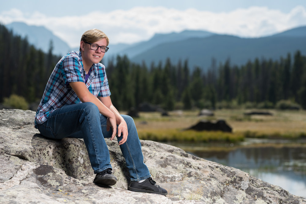 David's Senior session in the beautiful Colorado Rockies.