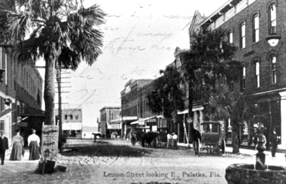 Busy Lemon Street in the late 1800s. Image sourced from the Putnam County Historical Society archives.