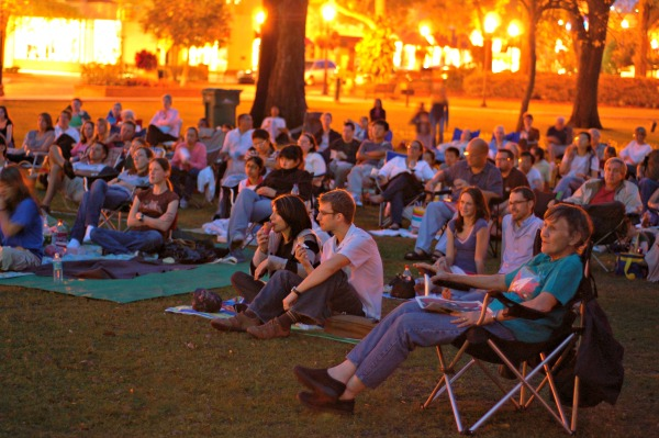 Movies on the lawn at the Enzian. Photo courtesy of Enzian Theater.