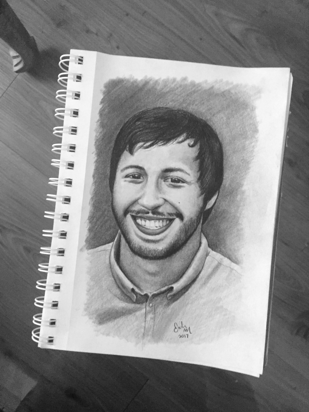 A gift for my boyfriend's mom... of my boyfriend  Graphite Sketch