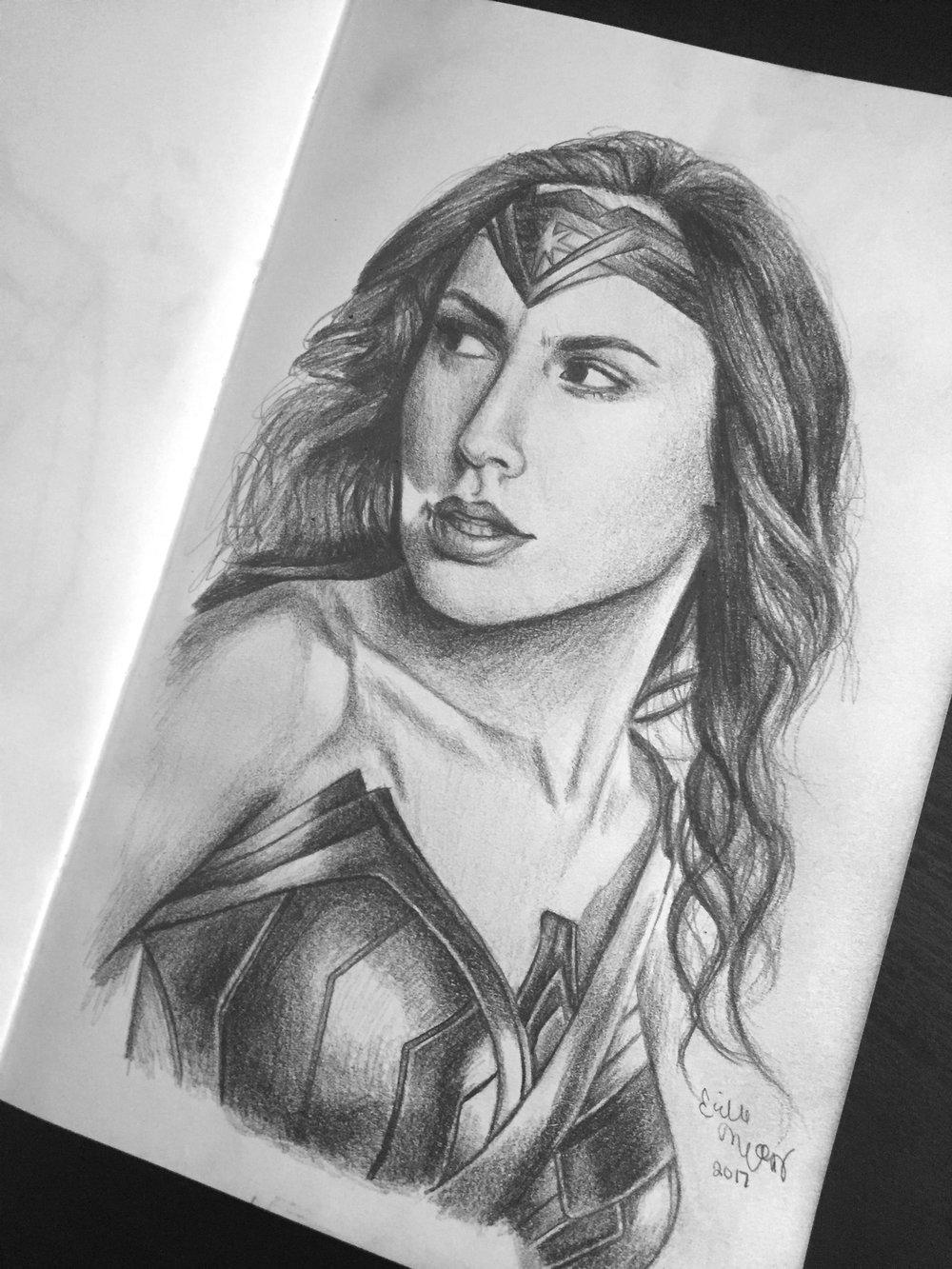Wonder Woman Fan Art  Graphite Sketch