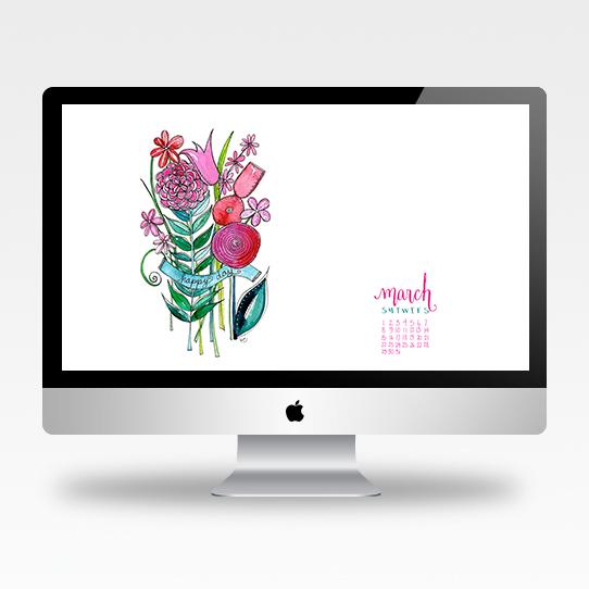 March Desktop Calendar