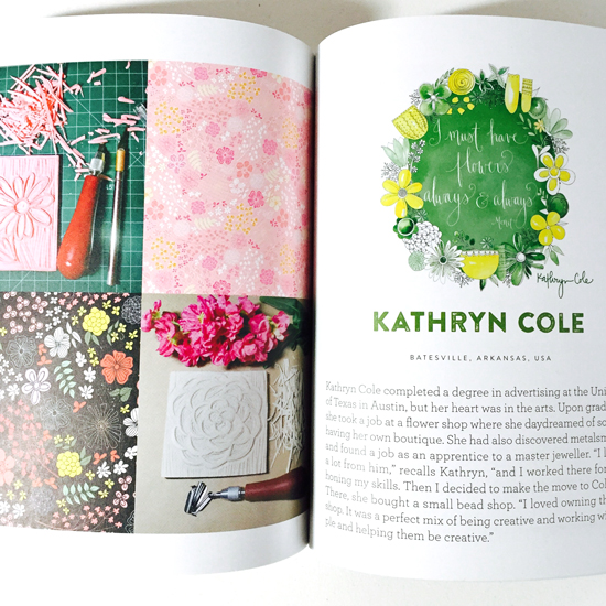 Kathryn Cole Uppercase Compendium, Surface Design