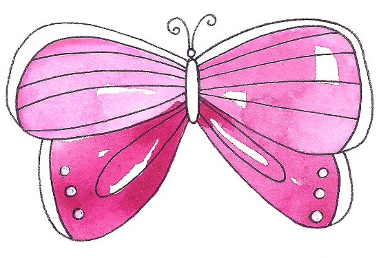 Watercolorbutterflybykathryncole