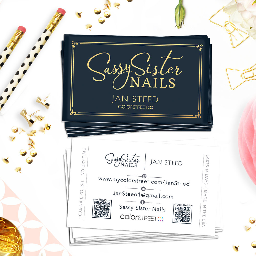 Sassy Sister Nails Business Cards