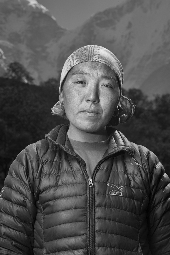 Dawa Tenzing died during an expedition on Mt. Everest in 2012, his widow Jangmu pictured here in their village Phortse.  Photo: Grayson Schaffer