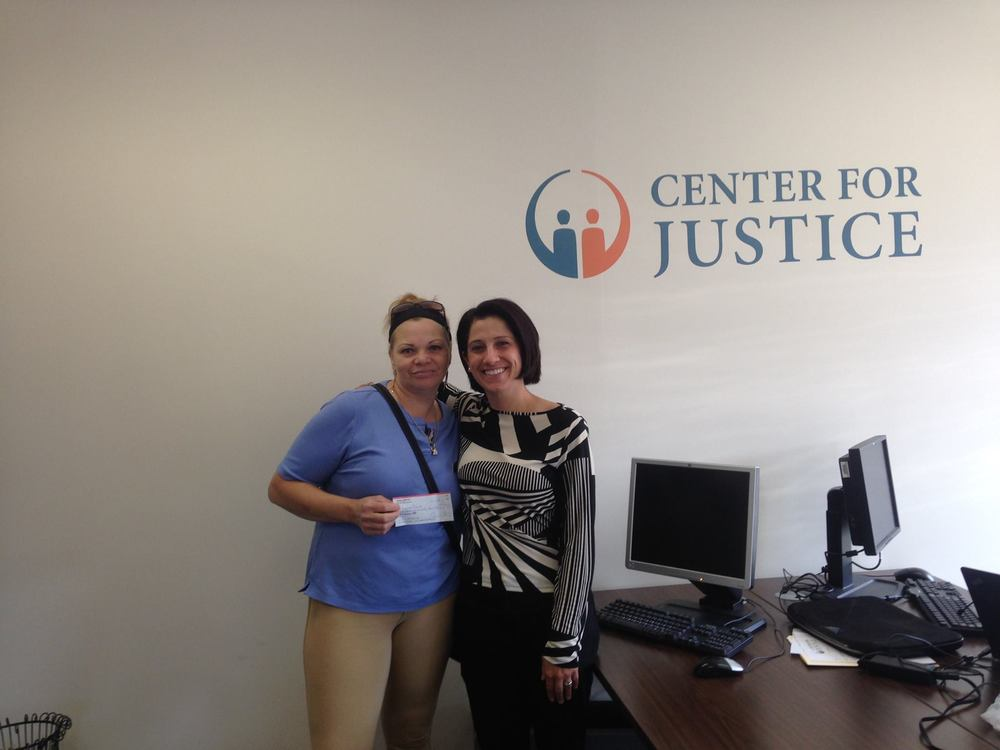 Attorney Marissa Janton worked with Maria Marte to get paid for her vacation time!