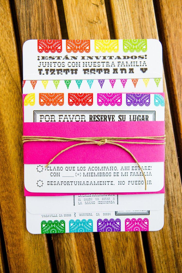 mexican papel picado wedding invitation 10jpg - Papel Picado Wedding Invitations
