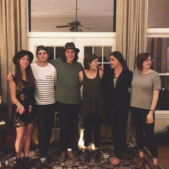 L to R :Alicia, Corey, Zachary, Liza, Gina & me.