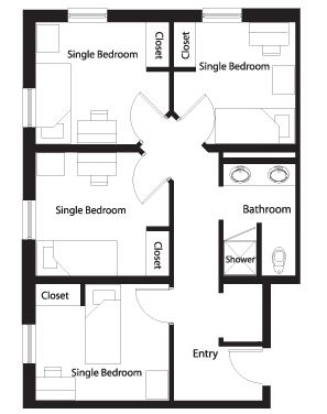 single person rooms
