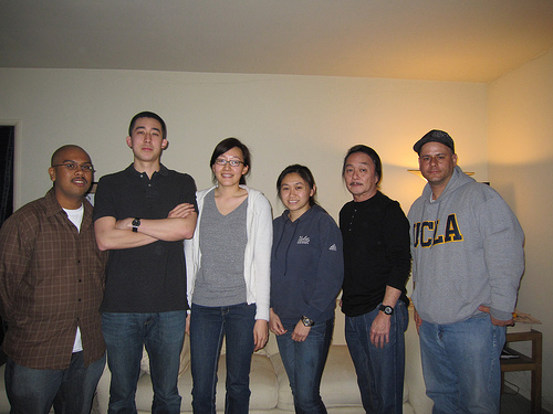 L to R: Brian Patel, Casey Ly, Cathy Yoo, Angela Zhao, Mike Nakayama and James Resos