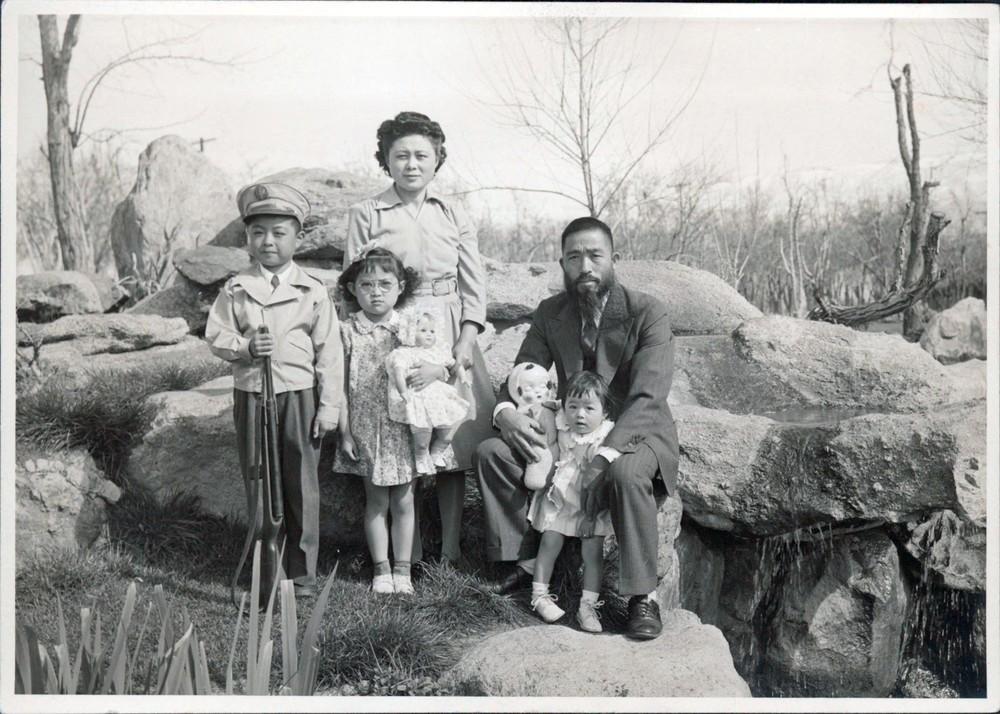 Iku Kiriyama with family at Manzanar