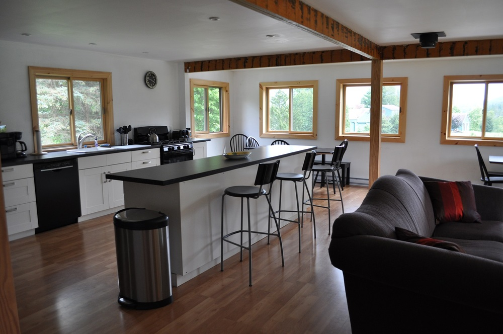 The Littlebranch House Has An Open Floor Plan On Second Which Includes Living Room Dining Kitchen It Also Three Full Baths