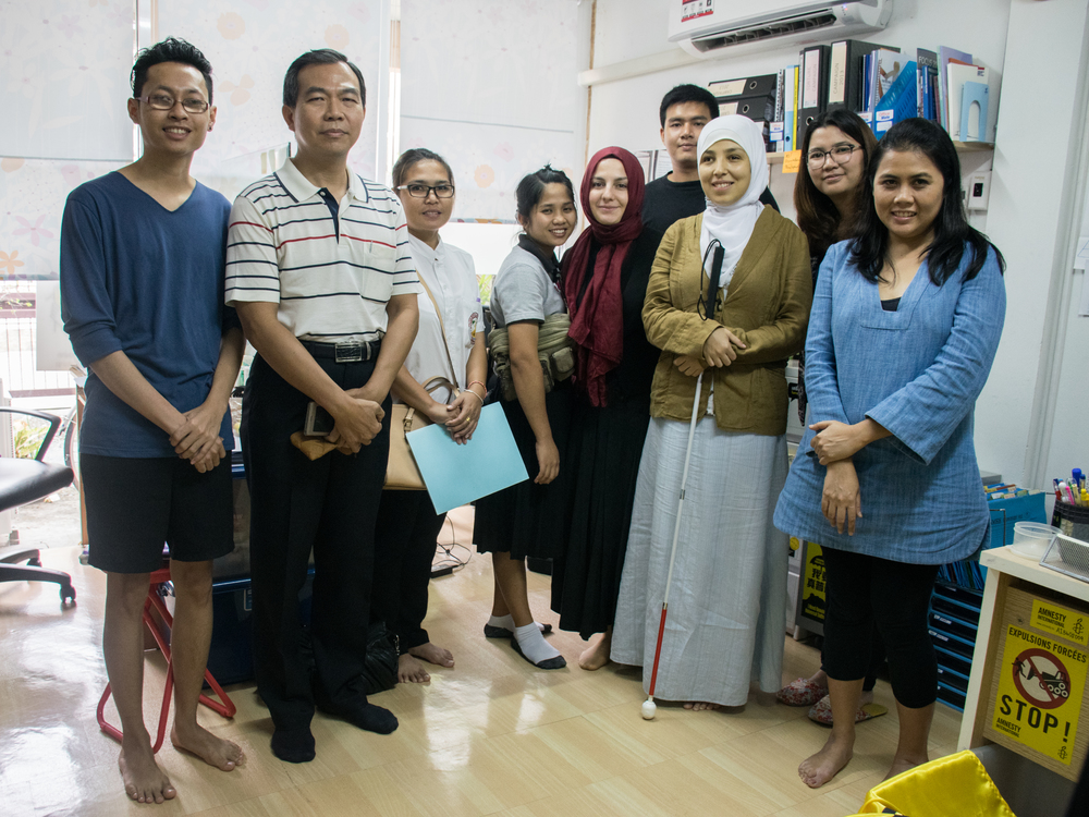 Sara, Ahsen and the Amnesty International Thailand team in Bangkok.