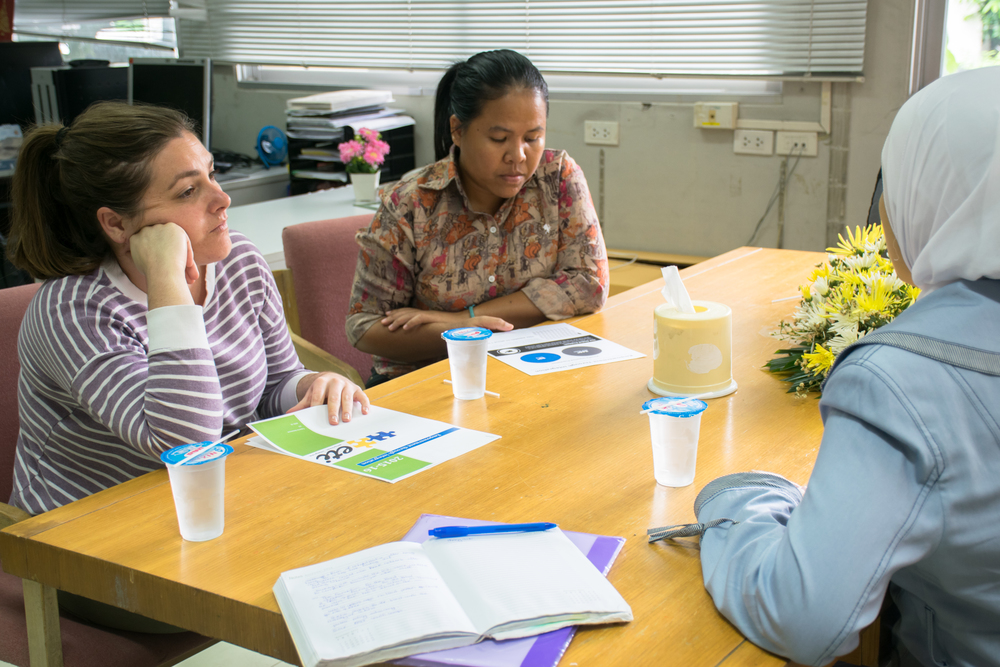 Sara and the Mercy Center team in Bangkok.