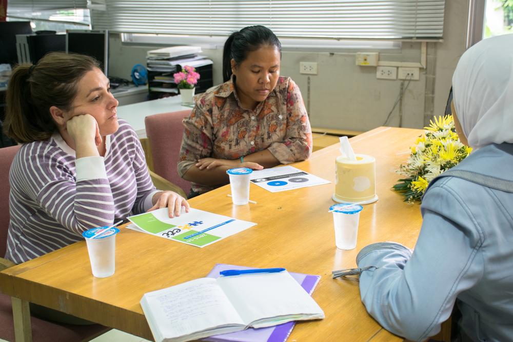 Sara and the Mercy Center team in Bangkok.