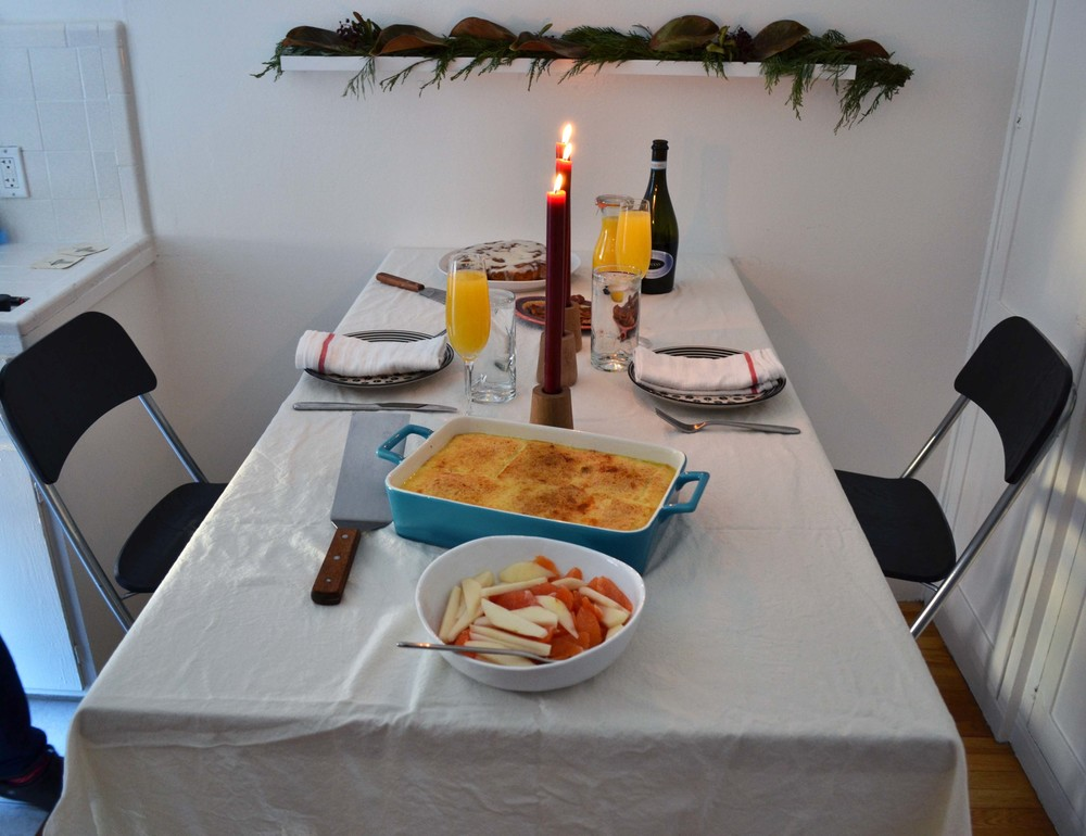 The brunch table. Simple but still special.