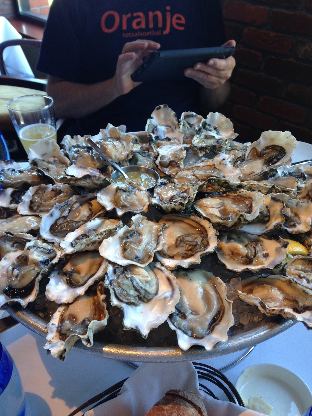 Speaking of oysters...do yourself a favor and go to  Water Bar  any day of the week between 11 and 5 and eat dollar oysters off of white cloth laced tables with view of the bay. One of the best and most beautiful deals in town!