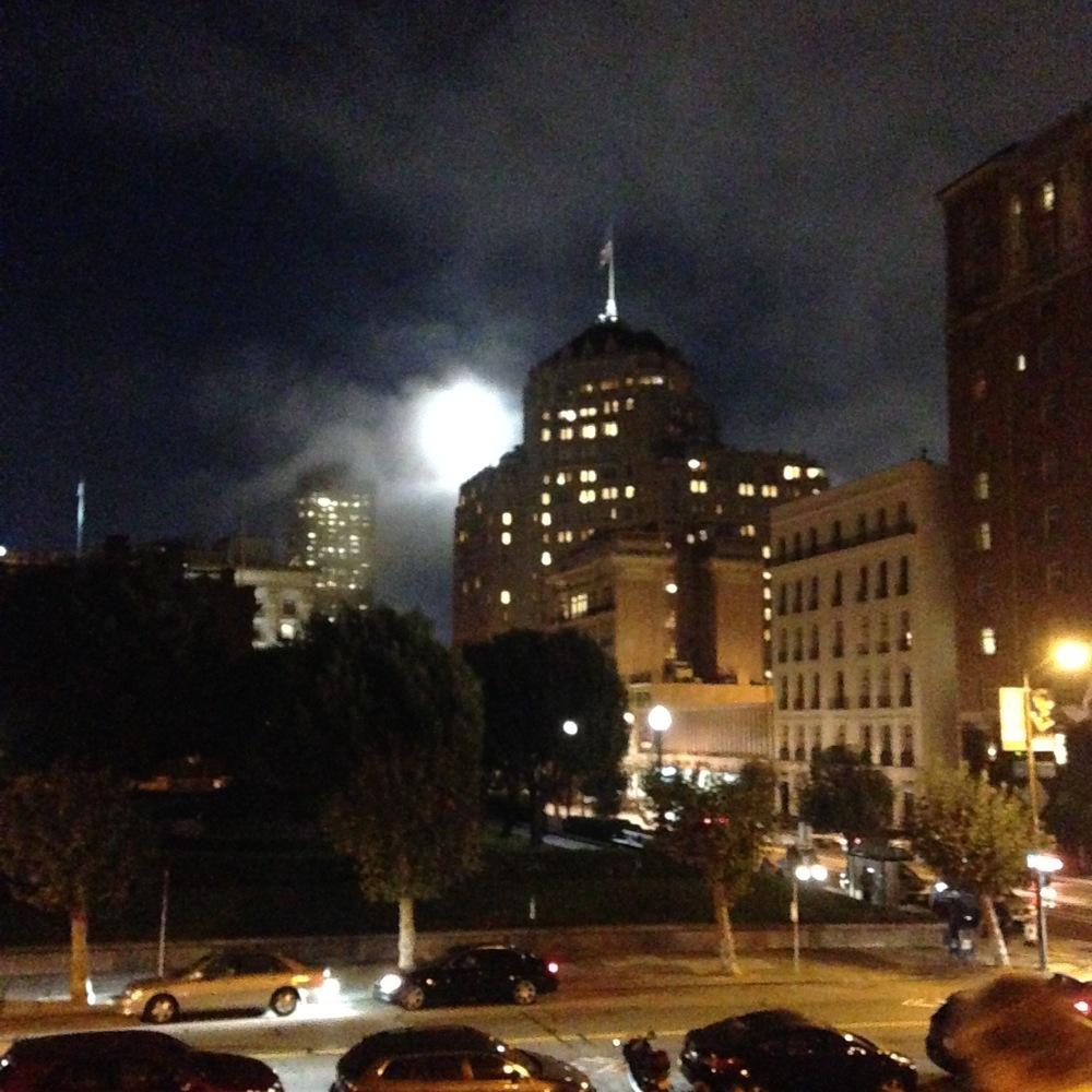 I caught this glimpse of an epic moon while in nob hill one evening.