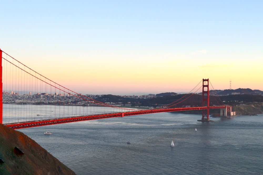 The Golden Gate Bridge.