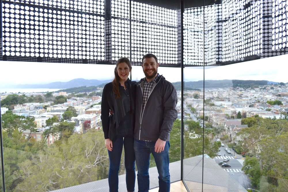 Visiting the De Young's Observation tower.