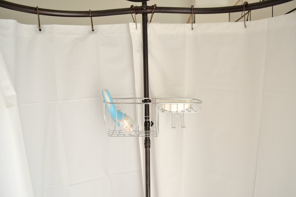 Shower Curtain Liner For Your Clawfoot Tub The White