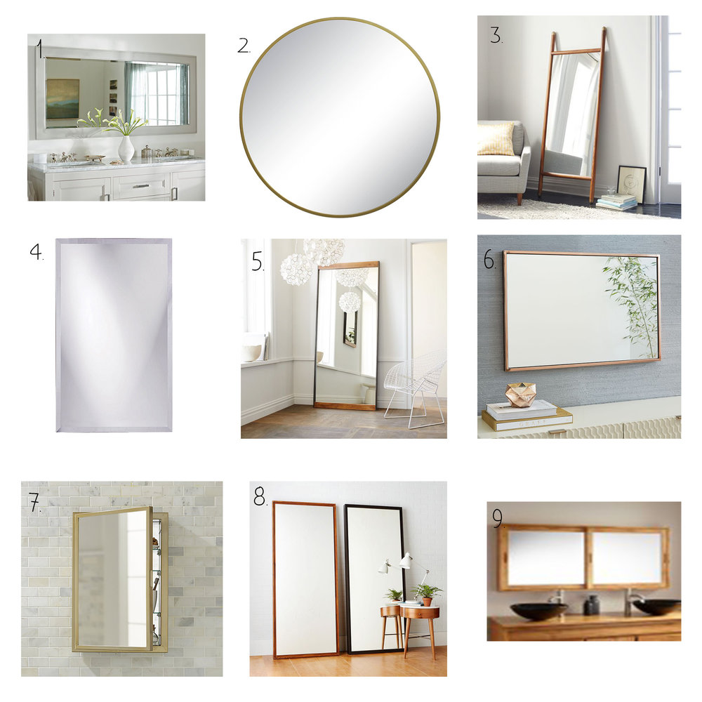 Bathroom Wall Mirror Round-Up — The White Apartment