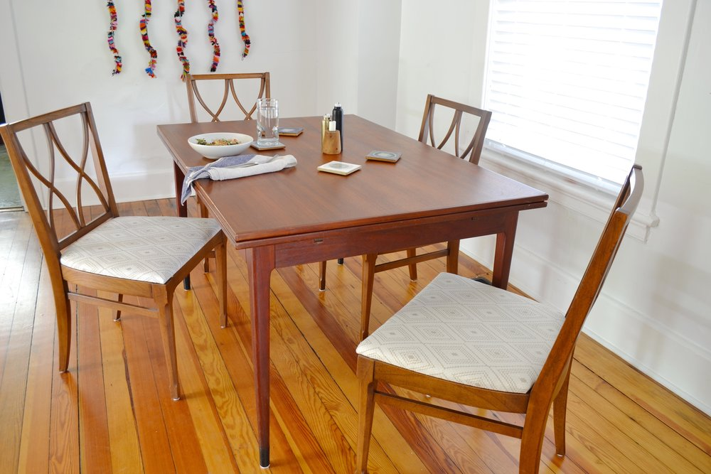 Recovering Dining Room Chairs: A Completed DIY Project