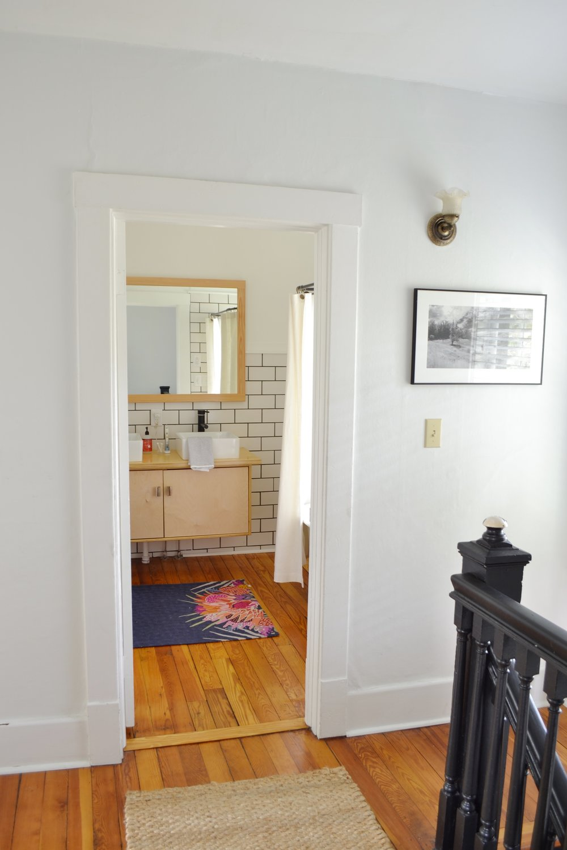 Large Bathroom Mirror Idea — The White Apartment