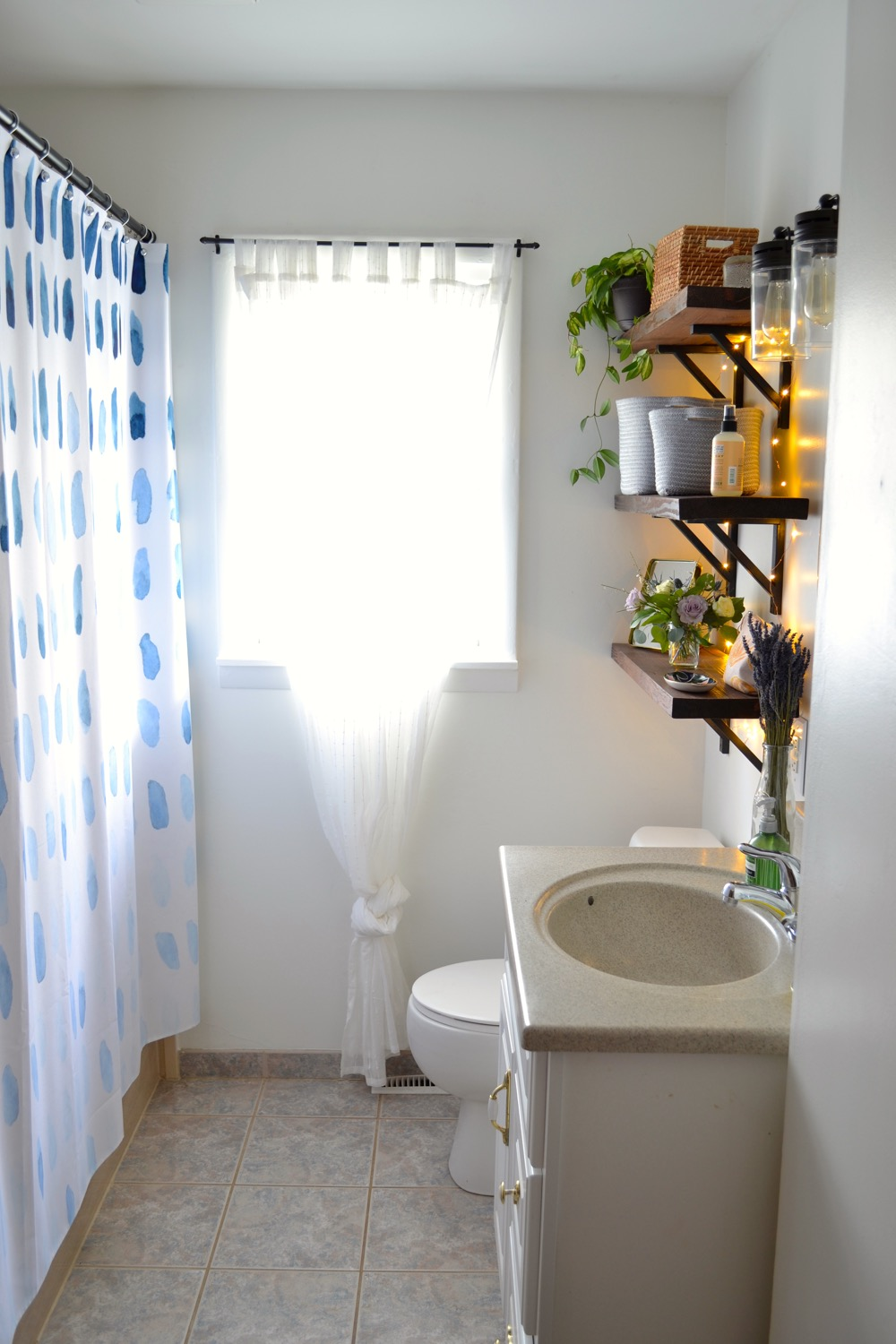 Before And After Bathroom Makeover On A Budget The White Apartment