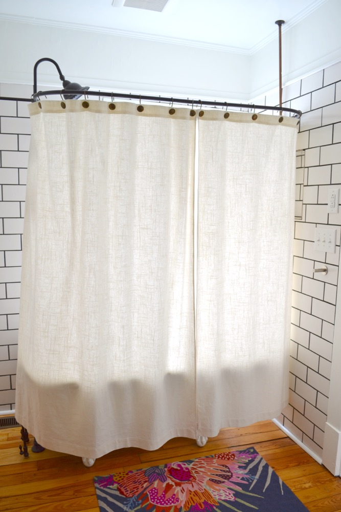 Clawfoot Tub Shower: Sticking Problem Solved! — The White Apartment