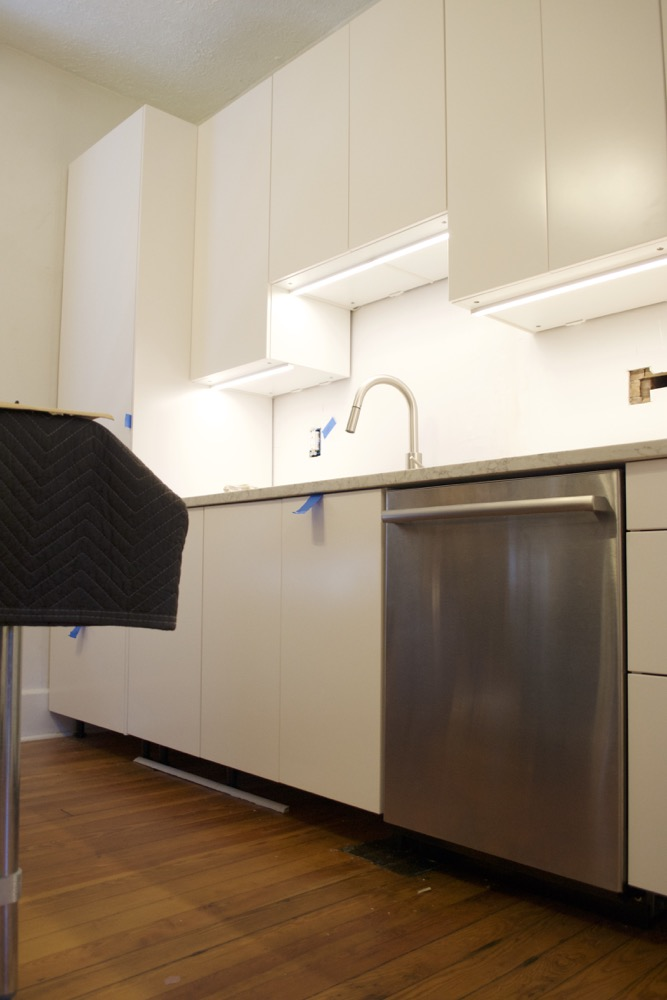 Tips For Installing Ikea Under Cabinet Lighting The White Apartment